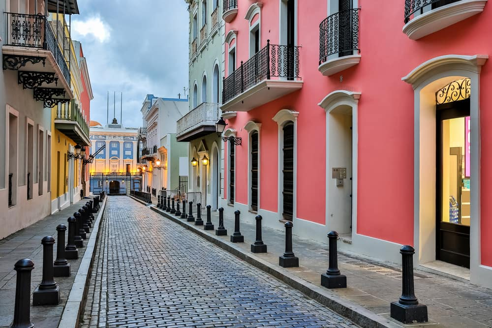 Colorful Shops Line the Streets in San Juan