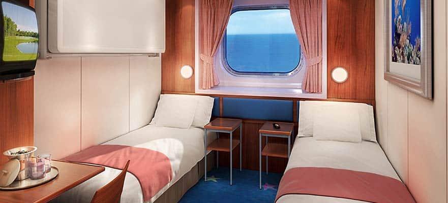 Plano de camarote con vista al mar